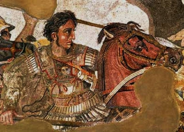Alexander mosaic from the house of the faun world of for Battle of issus painting