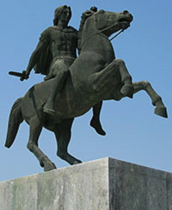 Alexander in Thessalonika.
