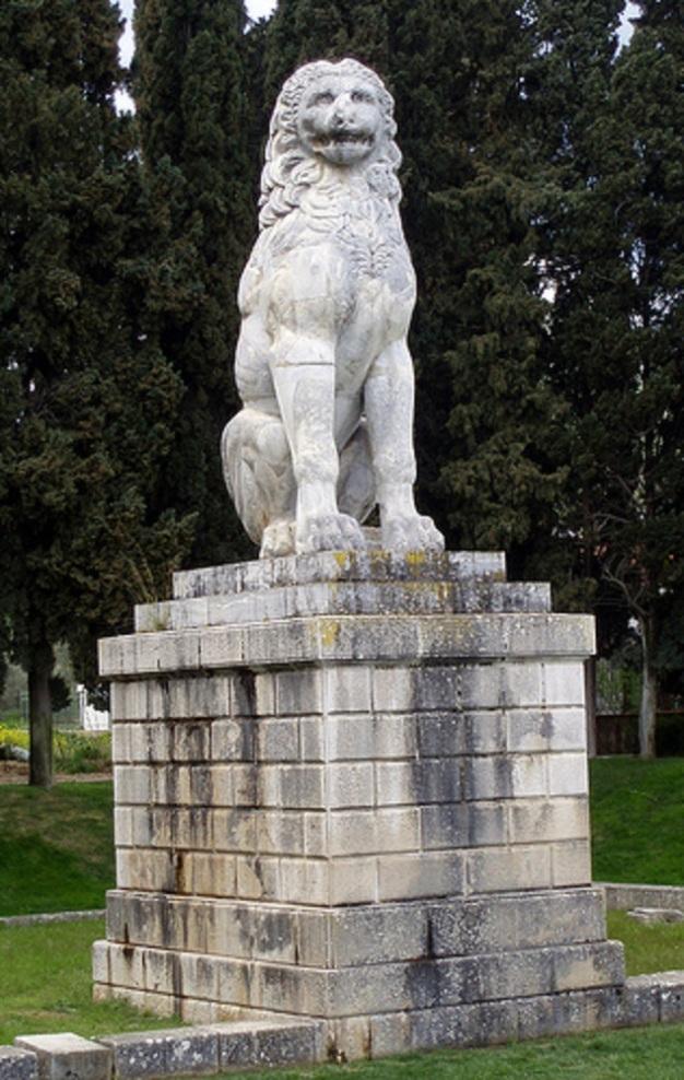 Khaironeian leijona on taisteluissa kaatuneille pystytetty muistomerkki vuodelta 338 eKr.