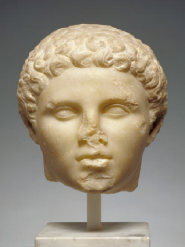 Head of Hephaestion. Unknown.Greek, about 320 B.C. Marble. The J. Paul Getty Museum.
