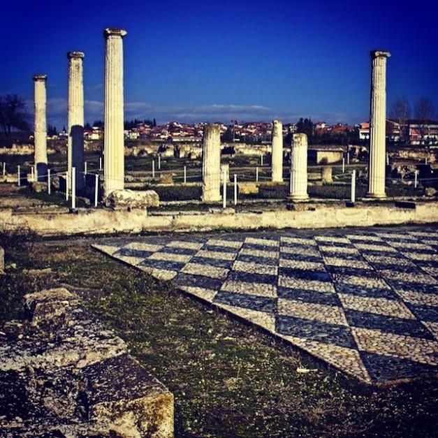 Antiikin Pellan rauniot. Pella oli Antiikin Kreikan aikana Makedonian valtakunnan pääkaupunki, sekä sen ympärillä ollut maakunta. Aleksanteri syntyi Pellassa vuonna 356 eaa.